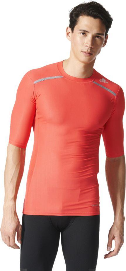 Adidas Koszulka meska Techfit Chill Short Sleeve Tee czerwona r. M (AY3673) AY3673