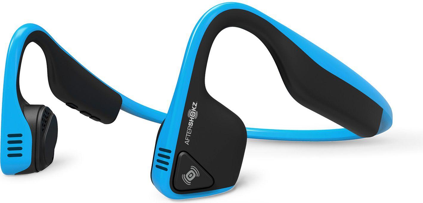 Aftershokz AS600 Bluetooth Headphones, Trekz Titanium, Ocean Blue, Bone conduction transducers, Excellent Sound Quality, Very Comfortable an austiņas