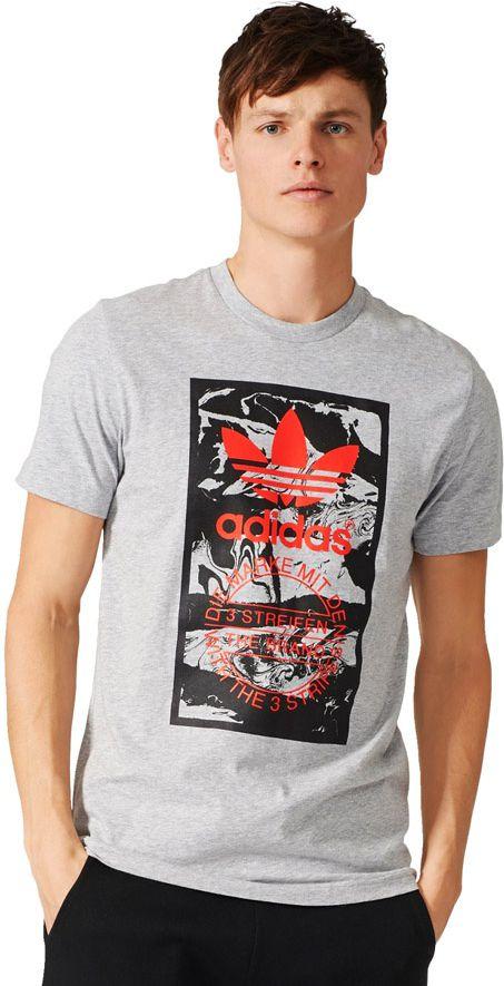 Adidas Koszulka TONGUE LABEL szara r. L (BS3304) BS3304