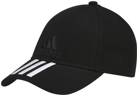 Adidas Czapka z daszkiem adidas 6P 3S Cap Cotton czarna  r. OSFY C1625
