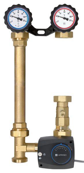 AFRISO Grupa pompowa PrimoTherm 180-2, DN25, bez pompy z zaworem 3-drogowym - 77615 77615
