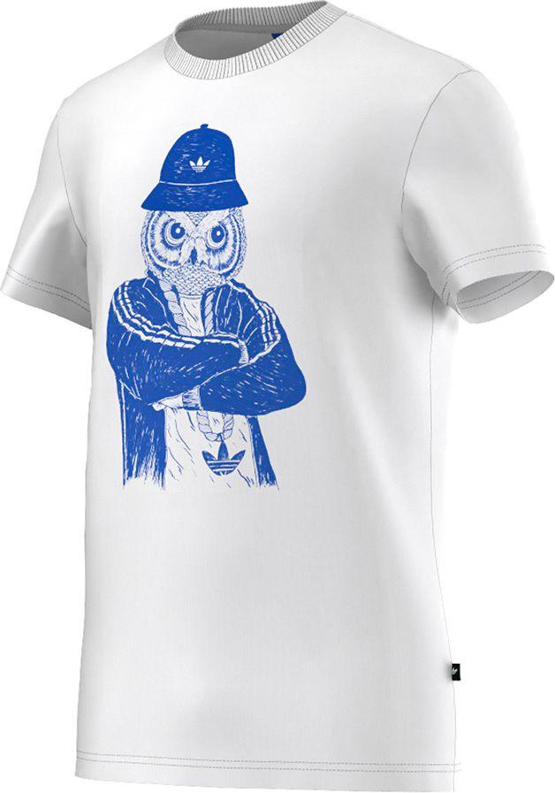 Adidas Koszulka meska OWL Tee biala r. S (M69254) M69254