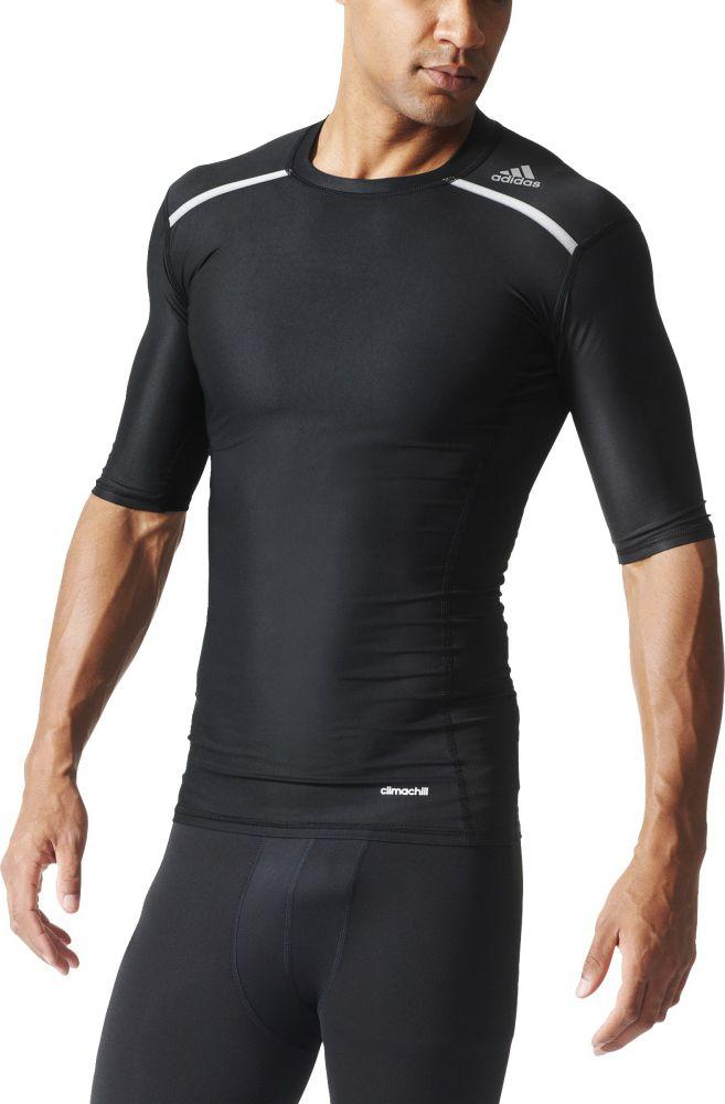 Adidas Koszulka meska Techfit Chill SS czarna r. XL AJ5705