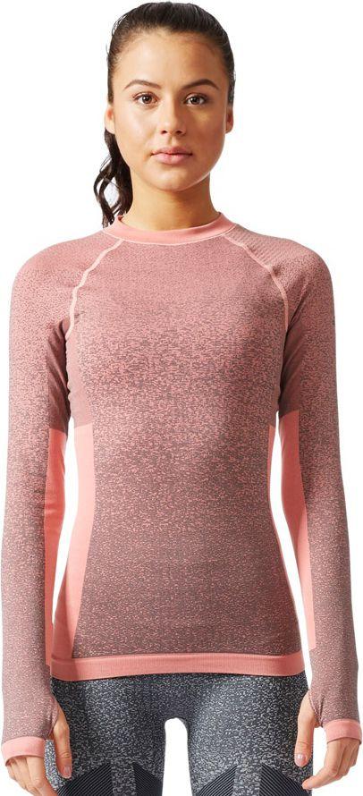 Adidas Koszulka Seamless LS rozowy r. S (BR6396) BR6396