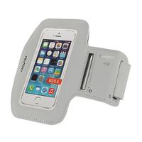 Qoltec Sports Armband for smartphone max.5.5'' gray soma foto, video aksesuāriem