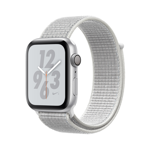 Apple Watch Nike+ Series 4 GPS 44mm Silver Alu Nike Loop Viedais pulkstenis, smartwatch