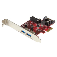 StarTech.com 4 Port USB 3.0 PCI Express-Karte - 2 Externe and 2 Interne with S... tīkla karte