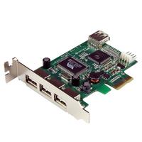 StarTech.com 4 Port USB 2.0 PCI Express Low Profile Schnittstellenkarte (PEXU... tīkla karte