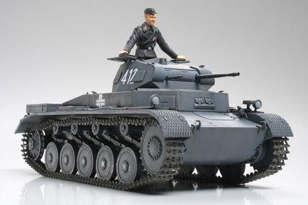 TAMIYA German PzKw II Au sf. A/B/C bērnu rotaļlieta