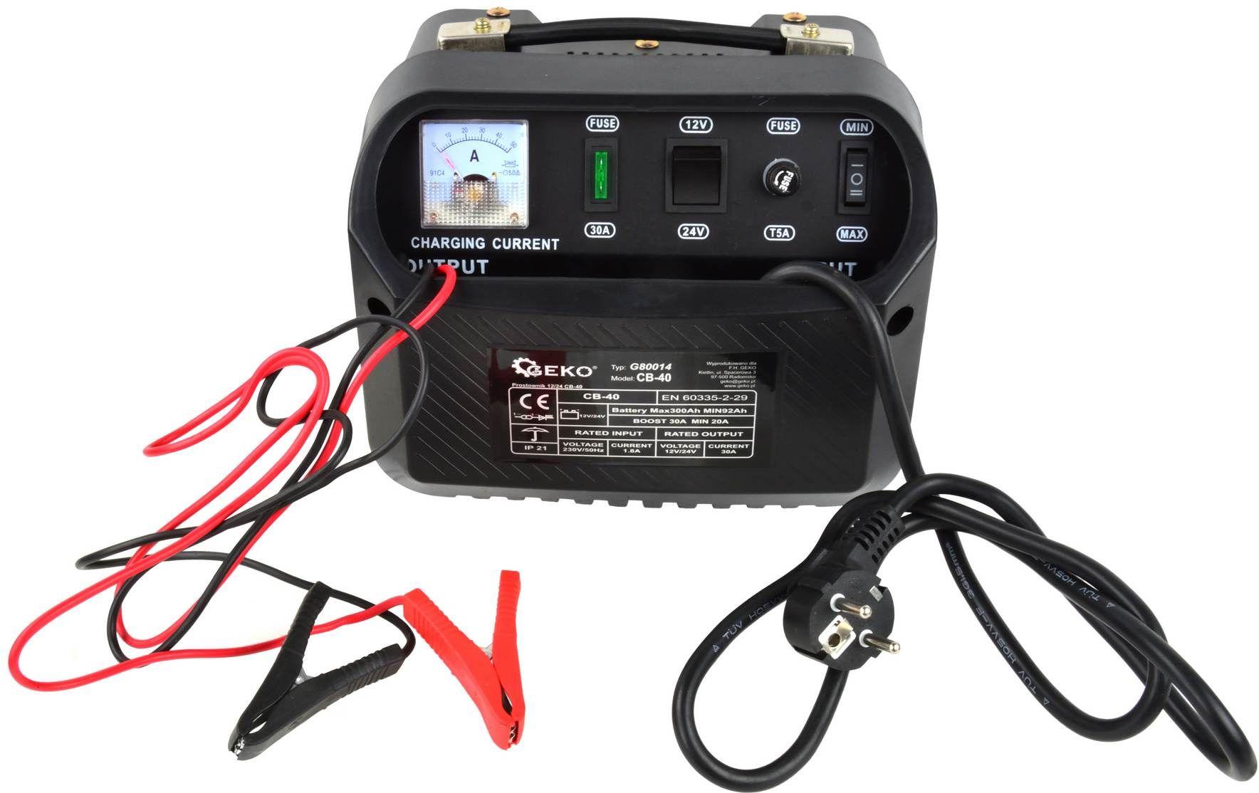 GEKO Prostownik 12/24V  CB-40(1) 4829396 auto akumulatoru lādētājs