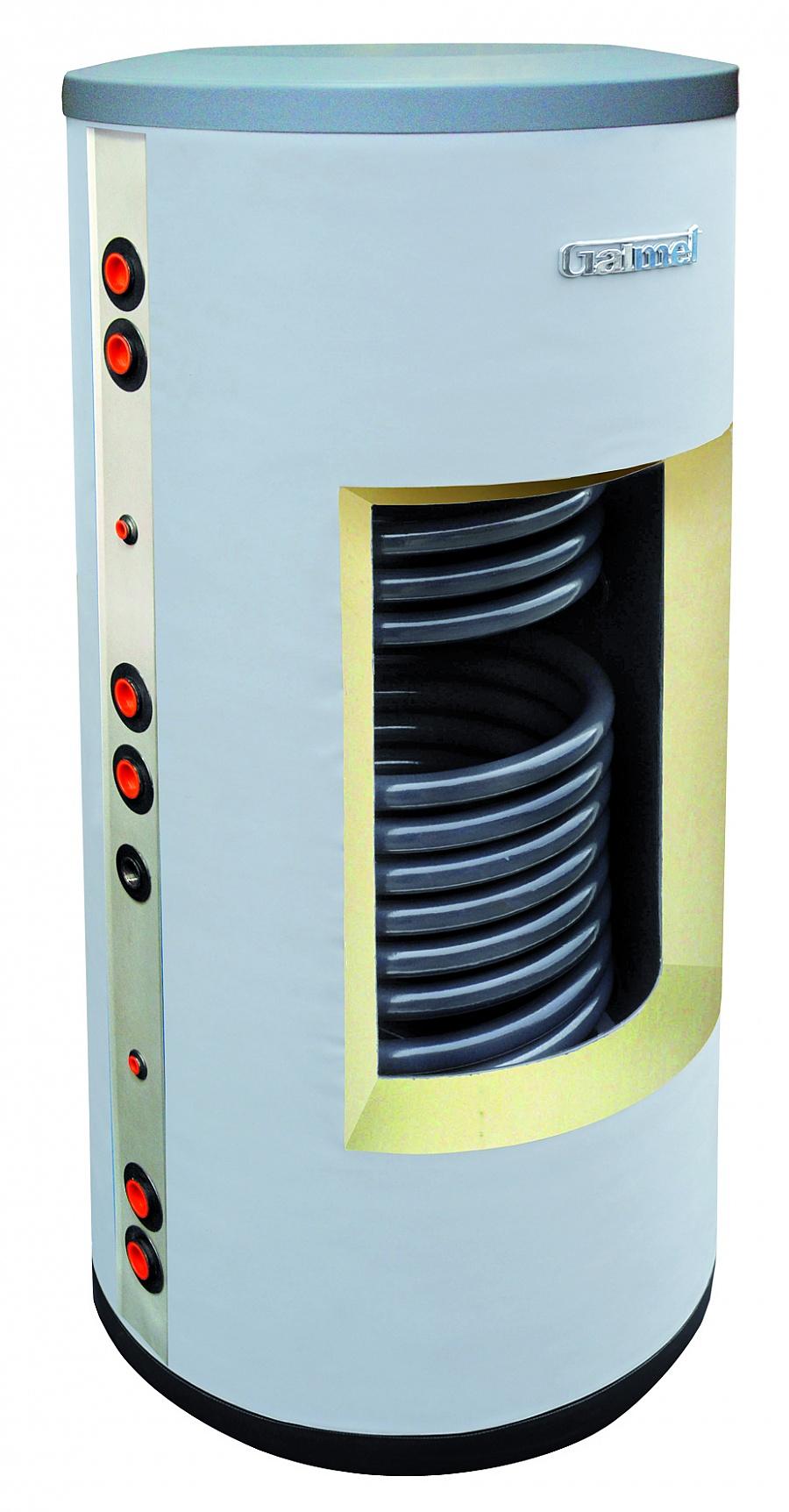 Galmet Wymiennik biwalentny z dwiema wezownicami spiralnymi do kolektorow slonecznych i sieci c.o. 200L (26-209000) 26-209000 boileris