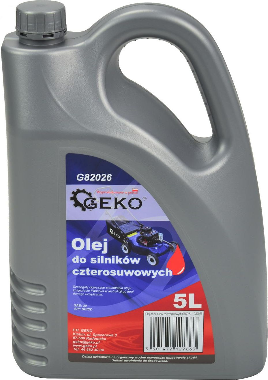 Olej silnikowy GEKO Olej do silnikow czterosuwowych GEKO 5L (3) 4829417 motoreļļa