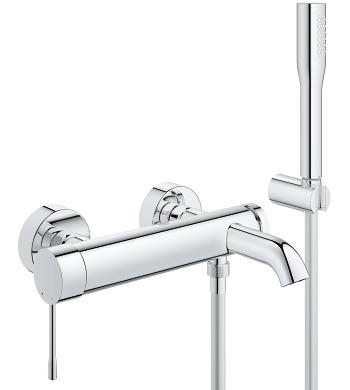 Bath mixer Grohe Essence wall chrome (33628001) jaucējkrāns