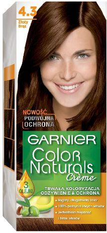 Garnier Color Naturals Krem koloryzujacy nr 4.3 Zloty Braz 0305407