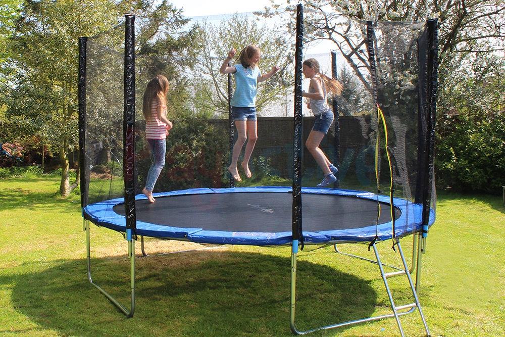 Trampoline 8 244cm + Safety Net + Ladders Batuts