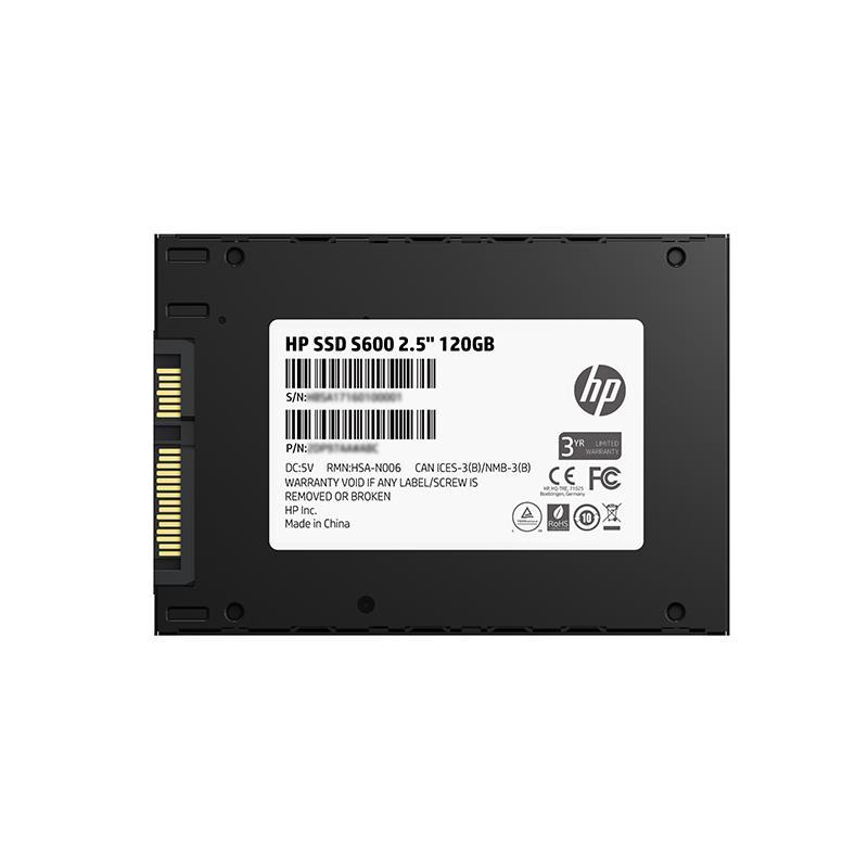 HP SSD S600 120GB 2.5'' SATA3 6GB/s, 524/496 MB/s SSD disks