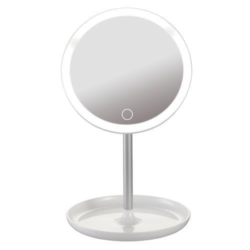 Platinet Round Moderns Spogulis ar LED 3W / Touch kontroli / Balta PMLY7W