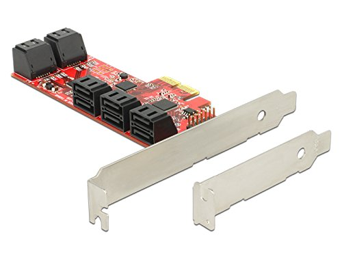 PCI Expr Card Delock 10x SATA III int +Low Profile karte