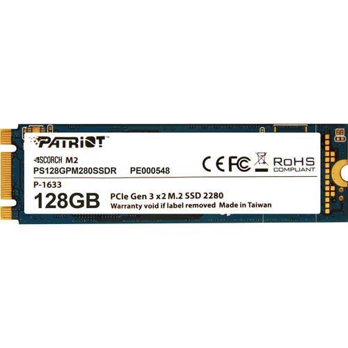 Patriot SSD Scorch M.2 PCIe 128GB Read/Write (1700/415Mb/s) SSD disks