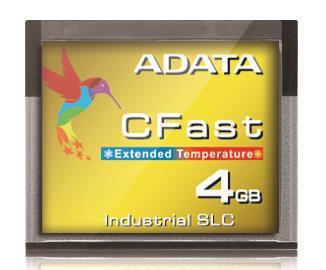 Adata CFast Card 4GB, Wide Temp, SLC, -40 to 85C