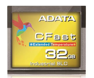Adata CFast Card 32GB, Wide Temp, SLC, -40 to 85C