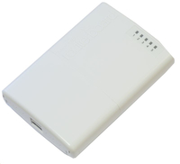 MikroTik PowerBox with 650MHz CPU, 64MB RAM, 5xLAN (four with PoE 10036 5711783892175 WiFi Rūteris