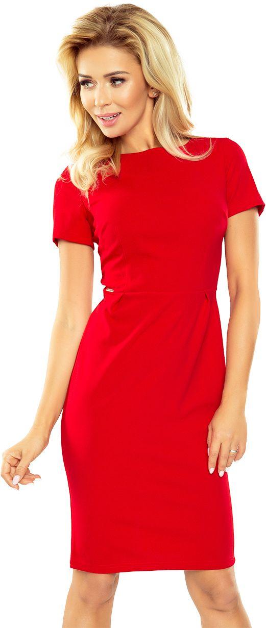 numoco Sukienka Dorota - elegancka 150 czerwona r. XL 933-6005 Kleitas sievietēm