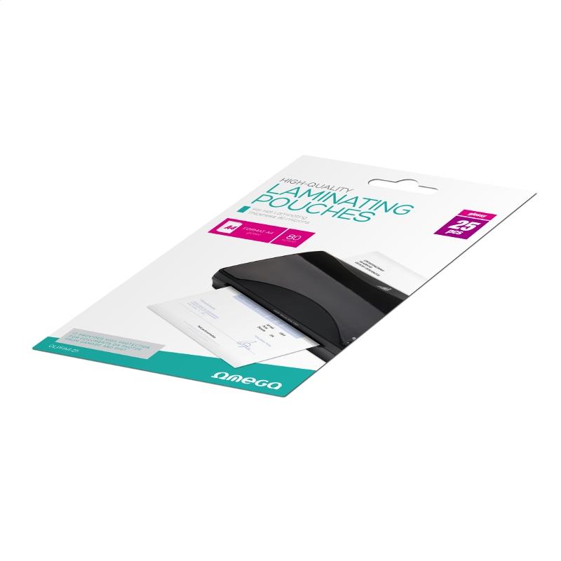 Omega OLPFA4-25 Laminēšanas plēve - Kabatiņas A4 25gb. laminators