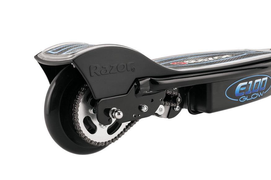 Razor E100 Glow Electric Scooter - Black Elektriskie skuteri un līdzsvara dēļi