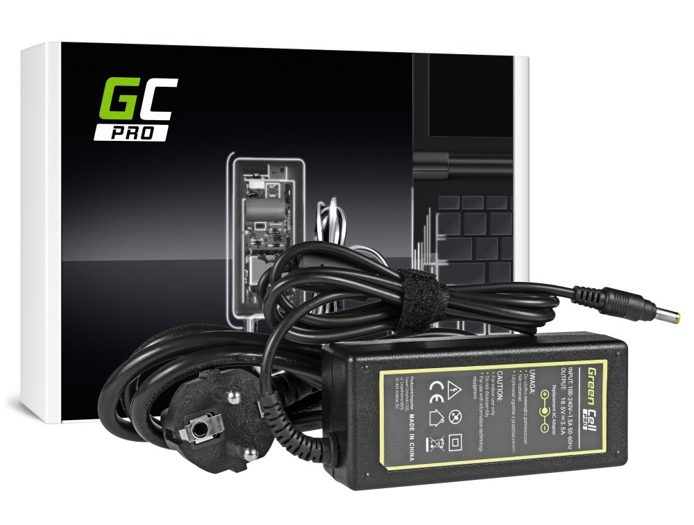 Green Cell PRO Charger / AC Adapter for HP 325 420 421 425 500 530 540 541 510 550 DM1 DM3 DV2000 DV4000 DV6000 18.5V 3.5A portatīvo datoru lādētājs