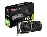 MSI GeForce RTX 2070 ARMOR 8G 8GB GDDR6 (256 Bit), HDMI, 3xDP, USB-C, BOX (RTX 2070 ARMOR 8G) video karte