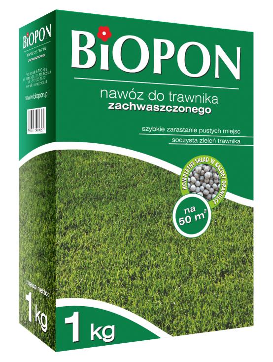 BIOPON Nawoz granulowany do traw zachwaszczonych 1kg (1131) B1131