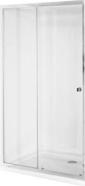 Besco Duo Slide drzwi prysznicowe 100 cm przesuwne szklo przejrzyste (DDS-100) DDS-100