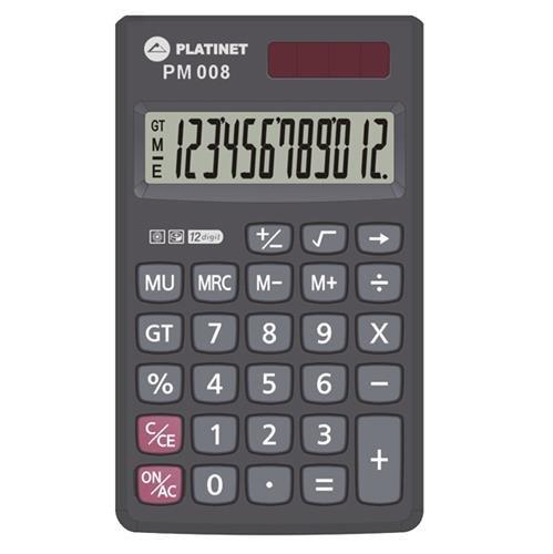 Platinet PMC008_A Kabatas Kalkulators + Maciņš - Futlāris Melns PMC008_A