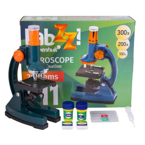 Mikroskops Berniem ar Komplektu Levenhuk LabZZ M1Plus 100x-300x Mikroskops