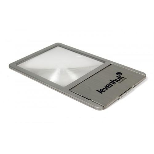 Palielinamais Stikls & Lupa & Kabatas Vizitkarte Levenhuk Zeno 90 ar LED Apgaismojumu Metala korpuss Palielinajums 2.5x Diametrs 48/45 mm 38