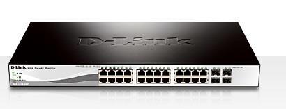D-Link 24 PoE 10/100/1000 Base-T port with 4 x 1000Base-T /SFP ports komutators