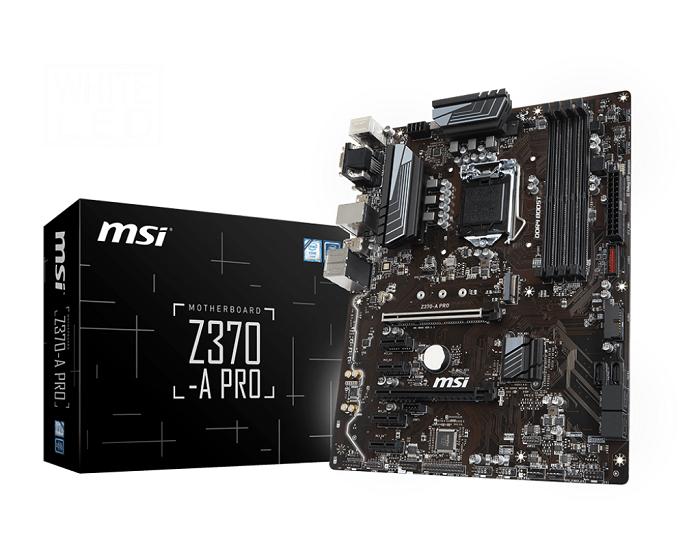 MSI Z370-A Pro, Intel Z370 Mainboard - Socket 1151 pamatplate, mātesplate