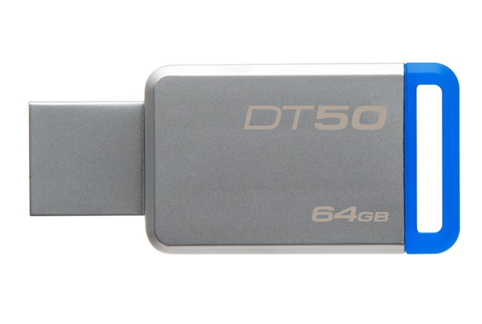 Kingston 64GB USB 3.0 DataTraveler 50 (Metal/Blue) USB Flash atmiņa