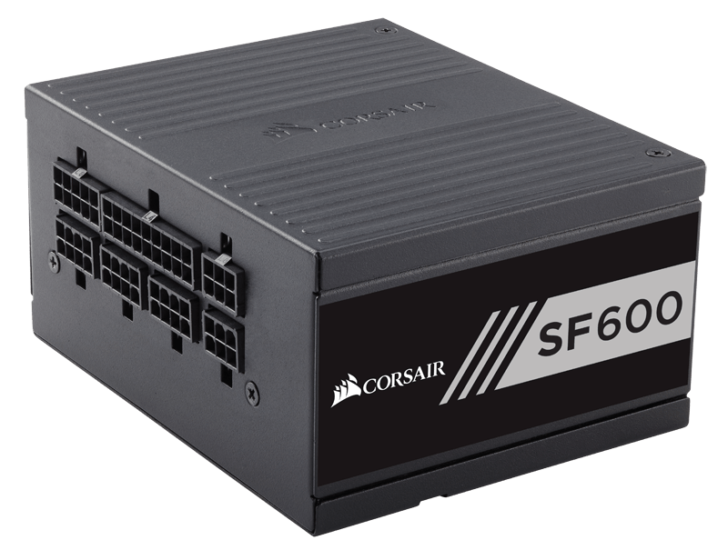 Corsair SF Series SF600-600 Watt 80 PLUS Gold Certified High Performance SFX Barošanas bloks, PSU