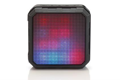 EDNET SPECTRO II LED Bluetooth  Speaker, 5W, 2200mAh, IPX4 pārnēsājamais skaļrunis