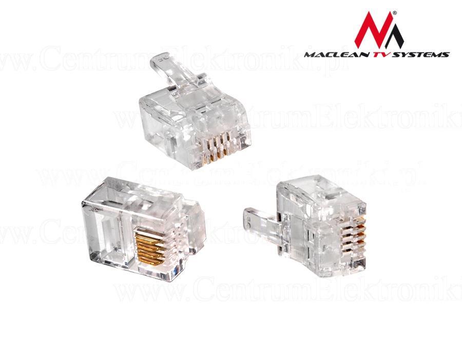 Maclean Plug RJ11 6P4C kabelis, vads