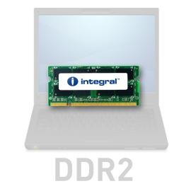Integral SODIMM 2GB 667MHz CL5 1.8V, PC2-5300 operatīvā atmiņa