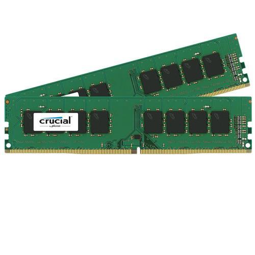 Crucial 2x8GB DDR4-2400 UDIMM, NON-ECC, CL17, operatīvā atmiņa