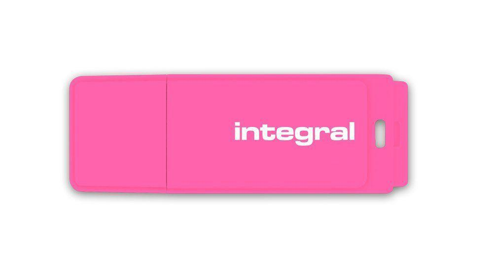 Integral USB Flash Drive 16GB NEON pink USB Flash atmiņa