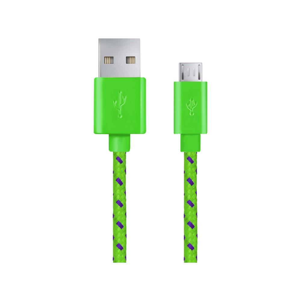 ESPERANZA EB175GP braided cable MICRO USB 2.0 A-B M/M OPLOT 1.0 M USB kabelis