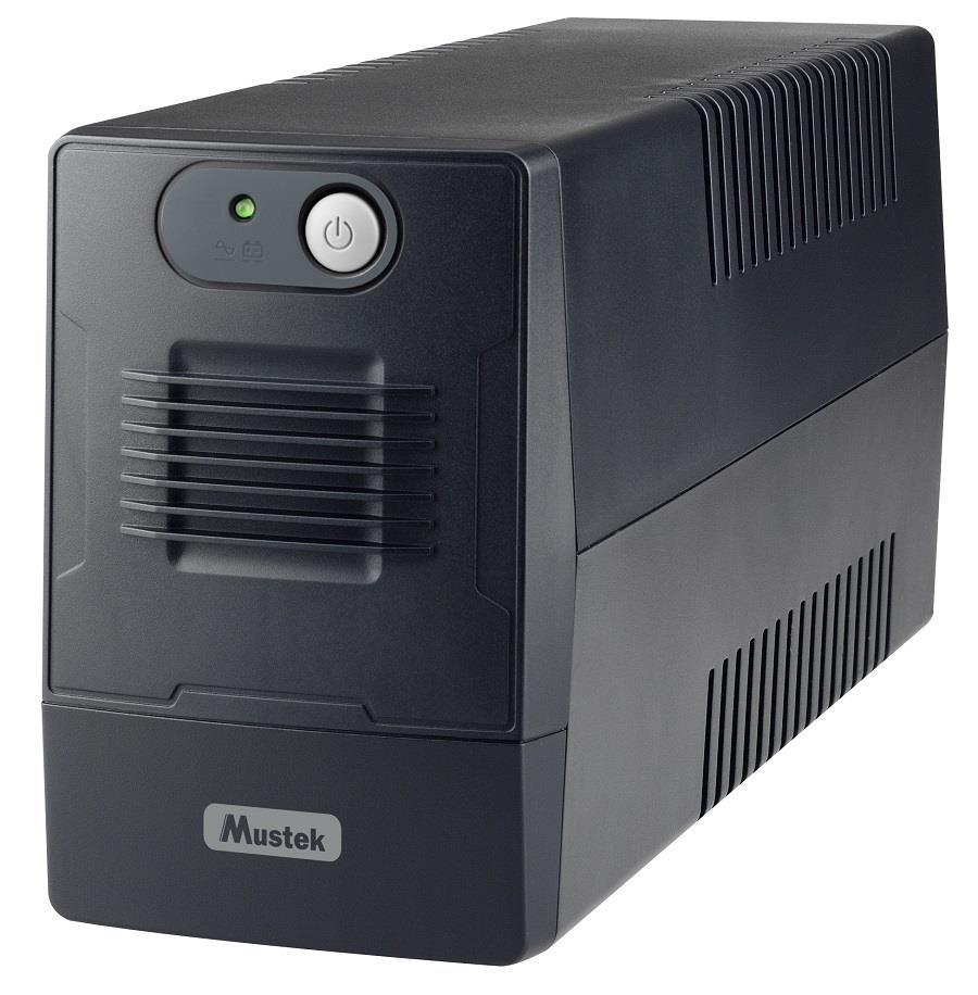 UPS | MUSTEK | 360 Watts | 650 VA | Wave form type Simulated sinewave | LineInteractive | Desktop/pedestal | 600-LED-LIG-T10 nepārtrauktas barošanas avots UPS