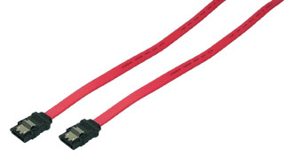 S-ATA Cable, 2x male, red, 0,50M kabelis datoram