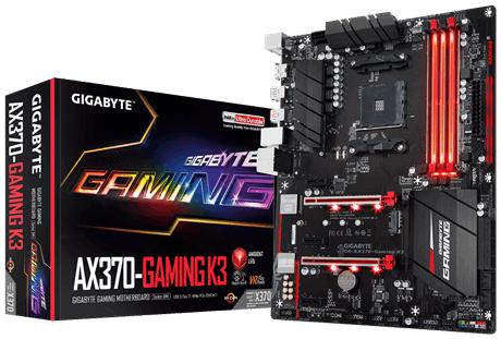 GIGABYTE AX370-Gaming K3 pamatplate, mātesplate