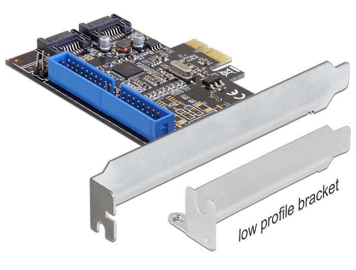 Delock PCI Express Card > 2 x internal SATA 6 Gb/s + 1 x internal IDE karte
